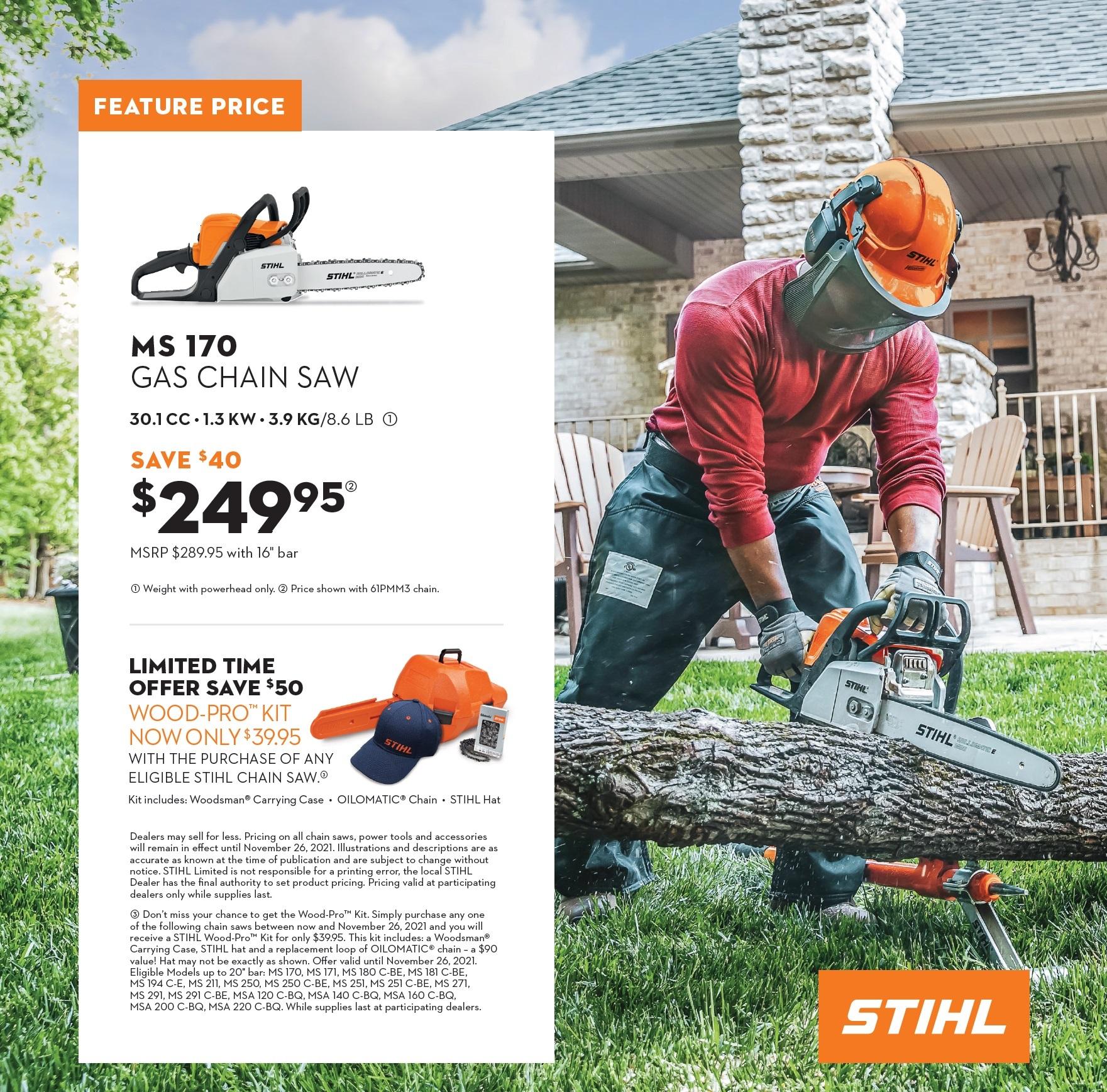 2021-09 STIHL WoodPro Kit & Chain Saw ad